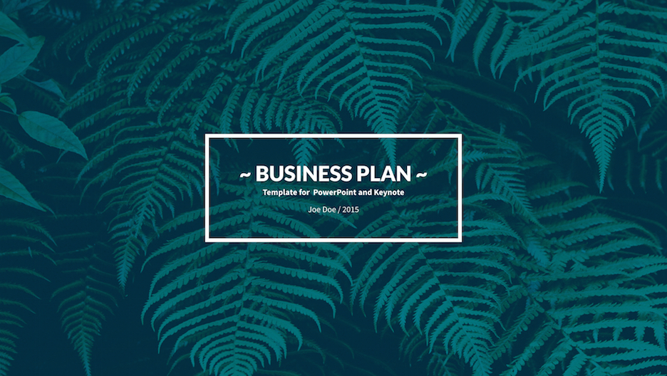 business plan keynote template improve presentation
