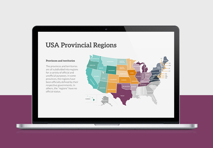 USA Map  Presentation Template
